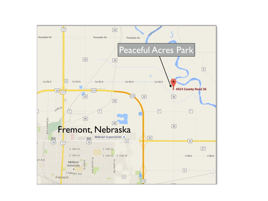 Peaceful Acres Area Map